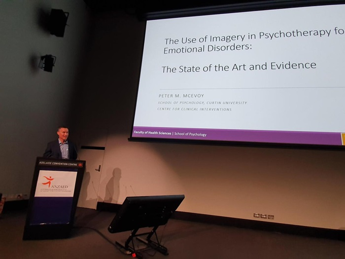 Dr McEvoy presenting at ANZAED